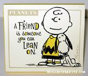 Charlie Brown & Snoopy 'A Friend' Plaque