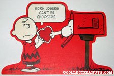 Snoopy giving Charlie Brown a card Valentine's Press-out