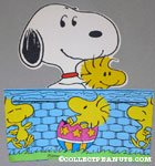 Snoopy and Woodstock around fold out Easter Basket