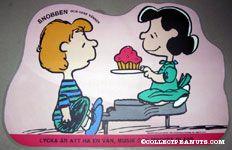 Schroeder & Lucy 'Lycka ar att ha en van, musik och mycket glass' Placemat