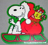 Snoopy on Sled