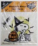 Snoopy Witch Static Stick-on Window Cling
