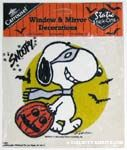 Snoopy wearing mask Static Stick-on Window Cling