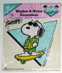 Joe Cool Skateboarding Static Stick-on Window Cling