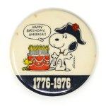 Snoopy Happy Birthday America Button