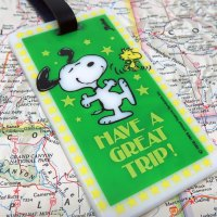 Snoopy and Woodstock Dancing Luggage Tag