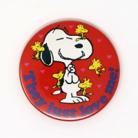 Snoopy with Woodstocks 'They Just Love Me!' Mini Mirror