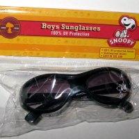 Snoopy & Guitar Black Sunglasses