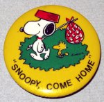Snoopy Come Home Button