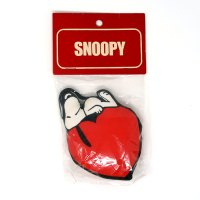 Snoopy laying on heart Fabric Stuffed Mini Mascots Ornament