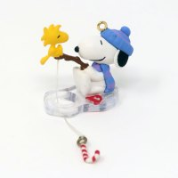 Snoopy and Woodstock Ice Fishing Ornament
