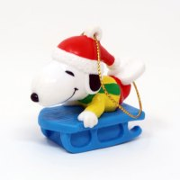 Snoopy on Blue Sled Ornament