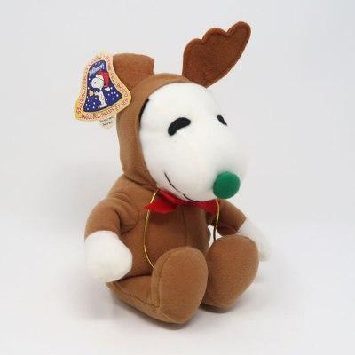 Snoopy Brown Reindeer Christmas Plush