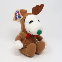 Snoopy Brown Reindeer Christmas Plush