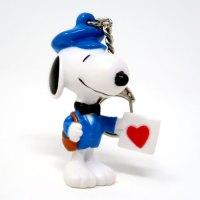Snoopy Valentine Delivery PVC Keychain