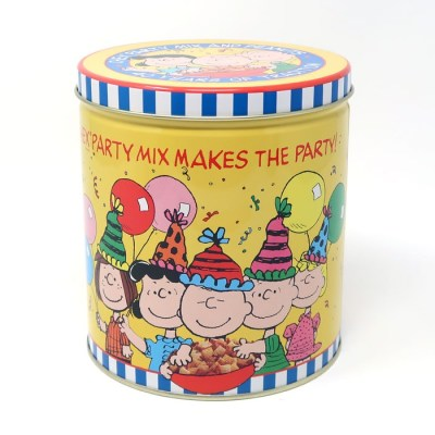Peanuts Gang Chex Mix Party Tin
