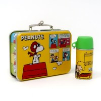Peanuts Lunch Box Ornament and Thermos