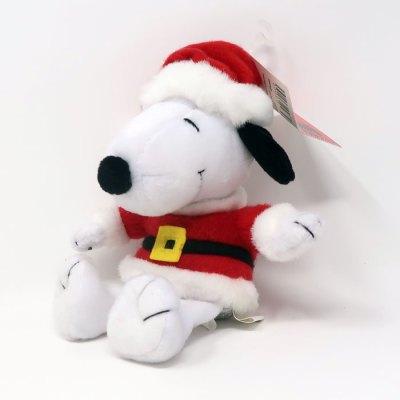 Santa Snoopy Beanie Plush Toy