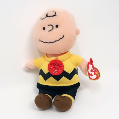 Charlie Brown musical Beanie Baby Plush Toy