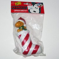 Woodstock in Stocking Christmas Ornament