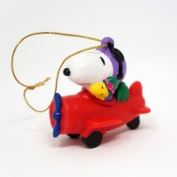 Snoopy Flying Ace in Red Plane PVC Ornament