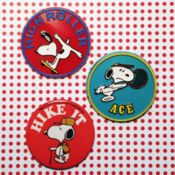 Snoopy Butterfly Originals Buttons