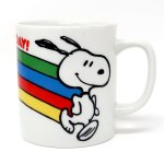 Snoopy Running with Rainbow Mug