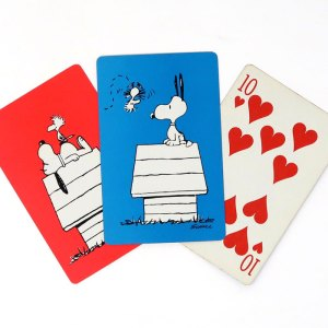 Snoopy and Woodstock on Doghouse Double Deck Playing Cards