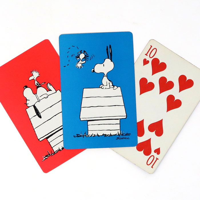 Snoopy Balloon Psychedelic Vintage Peanuts Playing Card Wall Art