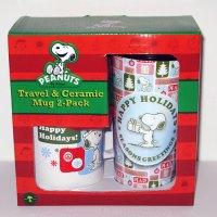 Snoopy Christmas Mug Set