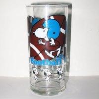 Snoopy Football Glass