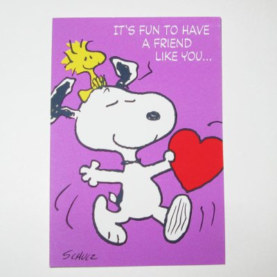 Snoopy & Woodstock Valentine's Day Card