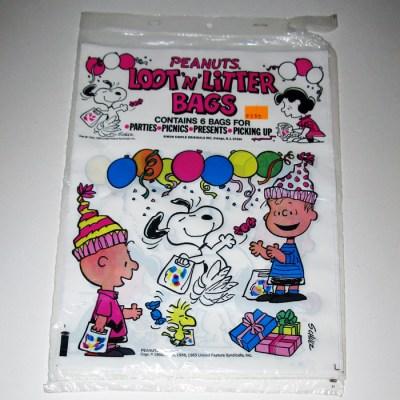 Peanuts Loot n' Litter Bags