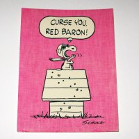 Snoopy Flying Ace 'Curse You, Red Baron!' Post Card