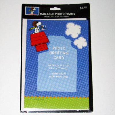 Snoopy Flying Ace Stamp Photo Greeting Card