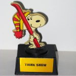 Snoopy Skiier Trophy