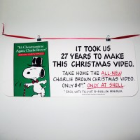 """It's Christmastime Again, Charlie Brown"" Sign"