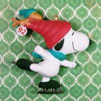 Snoopy and Woodstock Skating Ornament