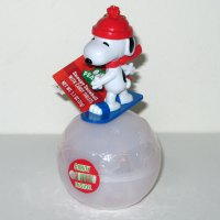 Snoopy Snowboarding on Snowball Candy Container