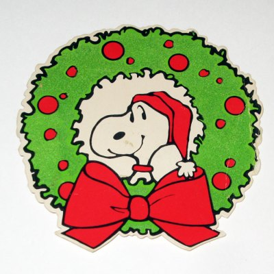 Santa Snoopy Wreath Christmas Gift Trim