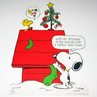 Snoopy & Woodstock hanging Christmas Stockings Decoration