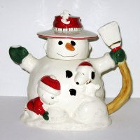 Peanuts Christmas Snowman Teapot