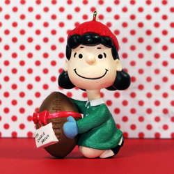 Lucy Football Ornament