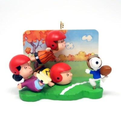 Peanuts Gang Football Game Ornament
