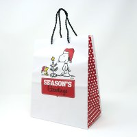 Snoopy and Woodstock with Christmas Tree Gift Bag