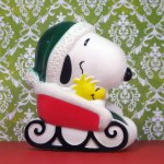Santa Snoopy in Sleigh Squeaky Toy