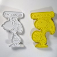 Snoopy and Joe Cool speech bubble Cookie Cutters