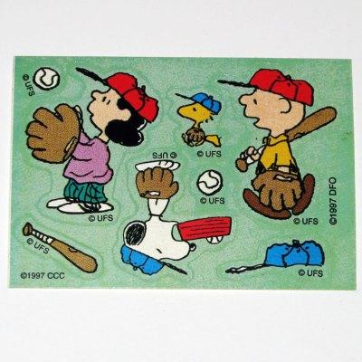 Peanuts Baseball Stickers