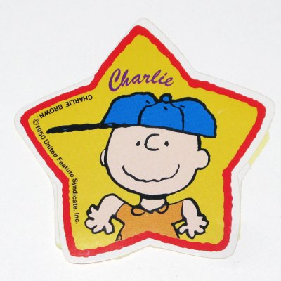 Charlie Brown Star Sticker