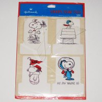 Snoopy Name Tags